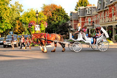 Horse and carriage ride. Image of a horse and carriage ride in Niagara on the Lake Canada Royalty Free Stock Images