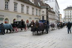 Horse carriage ride in Vienna Royalty Free Stock Photo