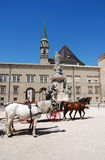 Horse carriage in salzburg. Austria Stock Images