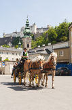 Horse carriage in Salzburg Royalty Free Stock Image