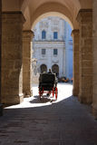 Horse carriage in salzburg Royalty Free Stock Photo