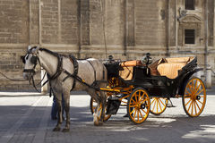 Horse carriage in Spain Royalty Free Stock Images
