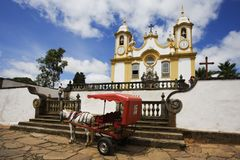 Horse Carriage, Tiracentes, Brazil Royalty Free Stock Photography
