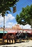 Horse carriage to walk around the Feria de Sevilla, Spain. Stock Images