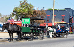 Horse and carriage tour around Charleston, South Carolina. Stock Photography