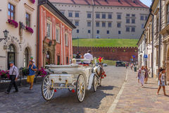 Horse carriage tour-Cracow (Krakow)-Poland Royalty Free Stock Photography
