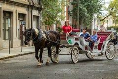 Free Horse Carriage Tour In Savannah Stock Photo - 112469060