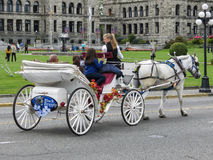 Horse and Carriage in Victoria Royalty Free Stock Image