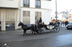 Horse carriage, Vienna Royalty Free Stock Images