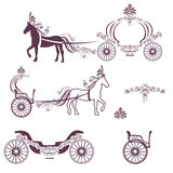 Horse with a carriage Royalty Free Stock Photos