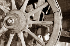 Horse Carriage wheel Stock Photography