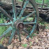 Horse carriage wheel. Traditional croatian horse cariage detail : wheel Royalty Free Stock Photo