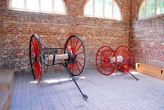 Horse Carriage Wheels in the Garage stock photos