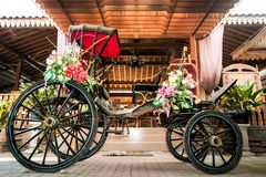 horse carriages decorated royalty free stock photography