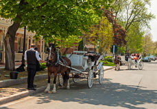 Horse carriages Royalty Free Stock Images