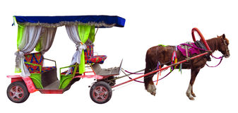 Horse carriages isolated Stock Photo