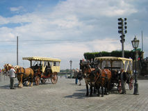 Horse carriages Royalty Free Stock Photography