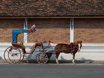 Horse carriages in Thailand Royalty Free Stock Images