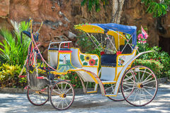 Horse carriages for tourist Stock Photos