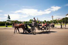 Horse carriages in Vienna Royalty Free Stock Images