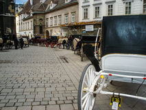 Horse and carriages in Vienna Royalty Free Stock Images