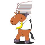 The horse carries a stack of folders 005 Royalty Free Stock Photo