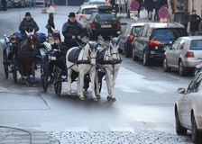 Horse carrige, Vienna Royalty Free Stock Images