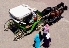 Horse cart Stock Images