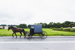 Horse and cart in Amish Country Royalty Free Stock Image