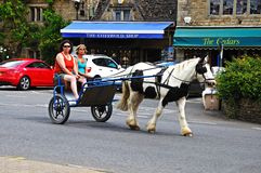 Horse and cart, Bourton on the Water. Royalty Free Stock Photo
