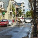 Horse cart driver rides to Jackson Stock Image
