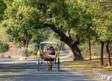 Horse cart in Mandalay, Myanmar Stock Photos
