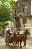 Horse cart ride Princes island,Turkey Royalty Free Stock Images