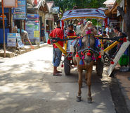 Horse cart waiting for tourists in Lombok, Indonesia Stock Images
