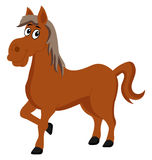 Horse cartoon only happy Stock Photo