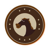 Horse character wild west icon. Vector illustration design Royalty Free Stock Photos