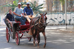 Horse charriage in Havana Royalty Free Stock Image
