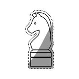 Horse chess game Royalty Free Stock Images