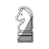 Horse chess game. Icon illustration graphic design vector illustration