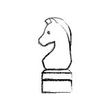 Horse chess game. Icon illustration graphic design stock illustration