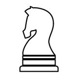 Horse chess isolated icon Royalty Free Stock Image