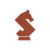 Horse chess piece. Illustration of a horse chess piece that can be used as logo symbol or as isolated design element Royalty Free Stock Photos