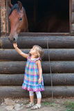Horse and child Royalty Free Stock Images