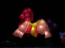 Horse Chinese Lantern - Mid Autumn Festival Royalty Free Stock Photography
