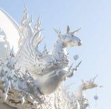 Horse chinese zodiac. At white temple, Wat Rong Khun, Chiang Rai, Thailand royalty free stock image