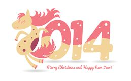 Horse for Christmas greetings and calendar. This is file of EPS10 format vector illustration