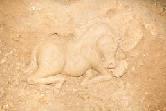 Horse from clay Stock Photo