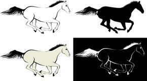 Horse. Clip art illustration and line art Stock Image