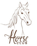 Horse club emblem Royalty Free Stock Images