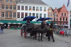 Horse coach in Calais Royalty Free Stock Photo